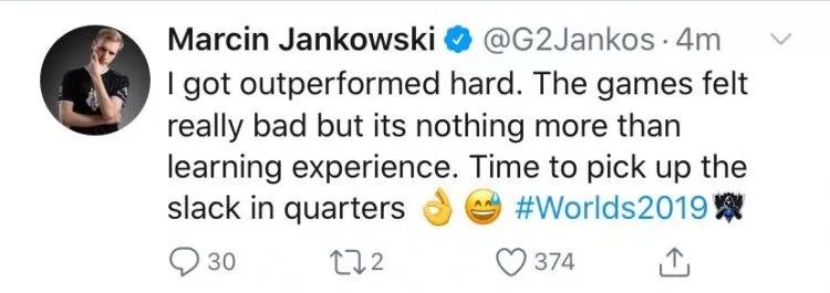 G2不敌GRF乐观依旧 全队望复制IG剧本